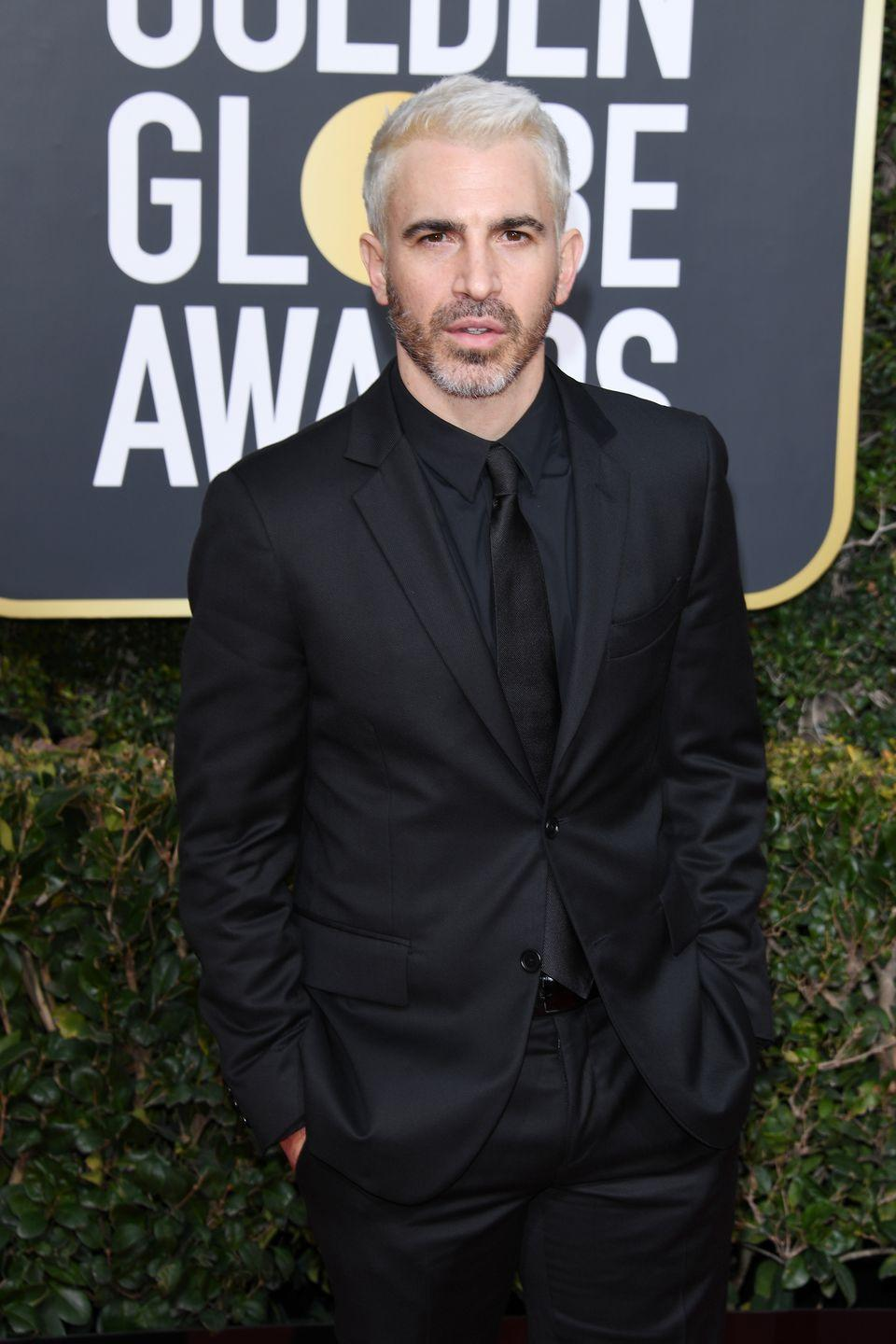 "<p><strong>Blonde</strong> </p><p>At the 2019 Golden Globes, though, the <em>Newsroom</em> star thought it would be a good day to give fans a <a href=""https://twitter.com/blackmon/status/1082075873510154240"" rel=""nofollow noopener"" target=""_blank"" data-ylk=""slk:thirst-trap"" class=""link rapid-noclick-resp"">thirst-trap</a> worthy moment. </p>"