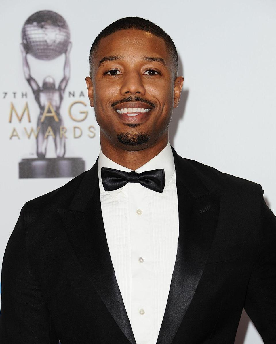 <p>The juggernaut star of Marvel's <em>Black Panther</em> and the Rocky franchise reboot, <em>Creed</em>, knows a thing or two about well-balanced facial hair. He boasts a well-groomed mustache to complement the goatee growth on his chin. </p>