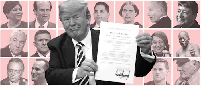 The people Trump has pardoned range from a women's suffrage leader to service members charged with murder to his ex-national security adviser who pleaded guilty to lying to the FBI.