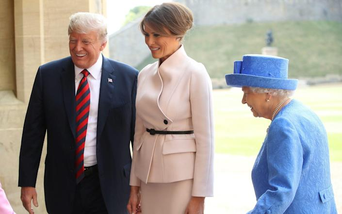 In 2018, the Queen accompanied Mr Trump to inspect the Guard of Honour at Windsor. - Chris Jackson/Getty Images
