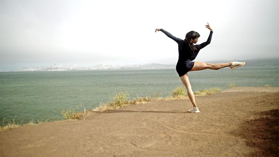 Frances Chung dances by the bay at Cavallo Point in Millepied's Dance of Dreams