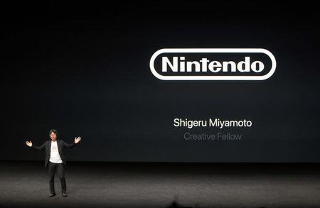 Ninetendo Creative Fellow Shigeru Miyamoto takes the stage during an Apple media event in San Francisco, California, U.S. September 7, 2016.  REUTERS/Beck Diefenbach