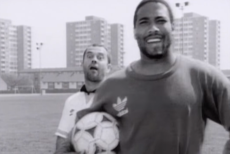 'World in Motion' was written by Keith Allen and features a rap by player John Barnes