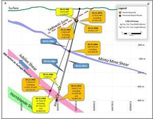 Cross Section of the Jubilee South Drilling