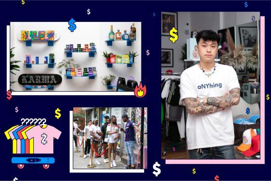 Portrait of Matt Choon along with Images of Potion Products and The Bowery Showroom