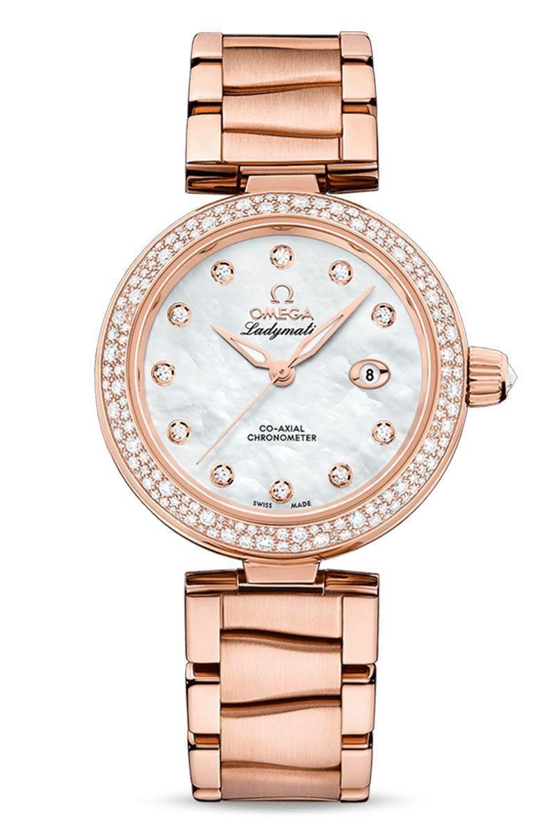"""<p><strong>Omega De Ville Ladymatic Watch </strong></p><p>omegawatches.com</p><p><strong>$29500.00</strong></p><p><a href=""""https://www.omegawatches.com/en-us/watch-omega-de-ville-ladymatic-omega-co-axial-34-mm-42560342055004"""" rel=""""nofollow noopener"""" target=""""_blank"""" data-ylk=""""slk:Shop Now"""" class=""""link rapid-noclick-resp"""">Shop Now</a></p><p>James Bond has donned a great number of watches in his many film iterations, but his current timepiece—worn by modern holder of the 007 moniker, actor Daniel Craig—is Omega's Seamaster. Brawny, attractive, and incredibly suave, Bond fits all the masculine tropes, and his watch certainly reflects that. Even though Omega has a spokesperson who is the emblem of virility, it has done more to market its women's line than any luxury company throughout the years. </p><p>Founded by Louis Brandt in La Chaux-de-Fonds, Switzerland, in 1848, the company started modestly, selling watches for a good number of clients. It was not until his sons took over the business, introducing its first mass-produced caliber, that Omega started to become a major player in the watch industry. It would gain greater prominence by acting as the official timekeeper at large-scale male sporting events. <br><br>Still, it saw that female consumers valued timekeeping, too, which is why it made movements in the guise of jewelry. It also created a line, the Medicus, exclusively for nurses in 1937. And under a decade later, it debuted the Ladymatic watch, and actively promoted the style through advertisements in an era when the market was still geared to men. </p>"""