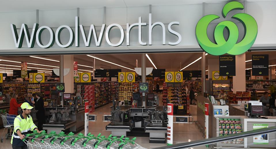 Front of a Woolworths store.