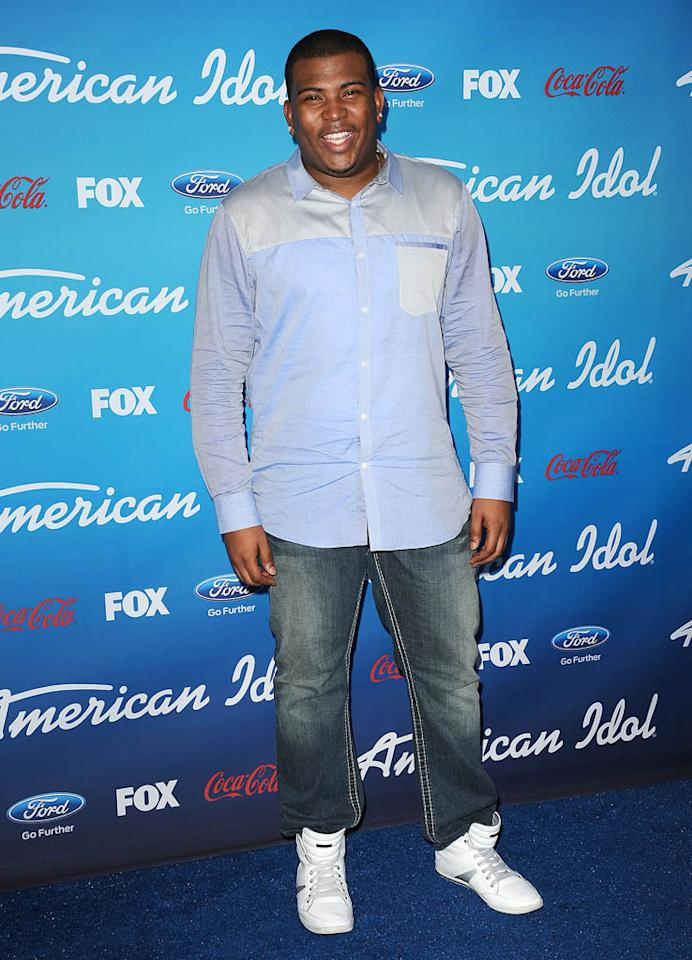"Curtis Finch, Jr. attends the FOX ""American Idol"" finalists party at The Grove on March 7, 2013 in Los Angeles, California."