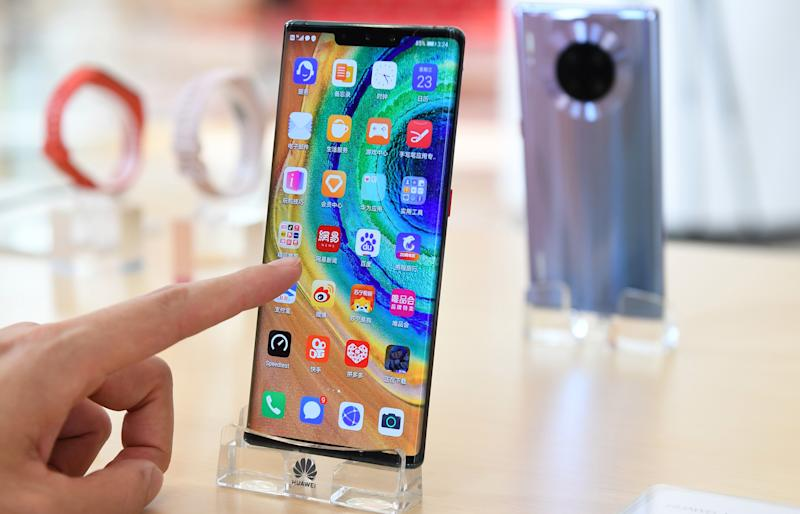 Huawei's 5G Mate30 (Xinhua/Mao Siqian via Getty Images)