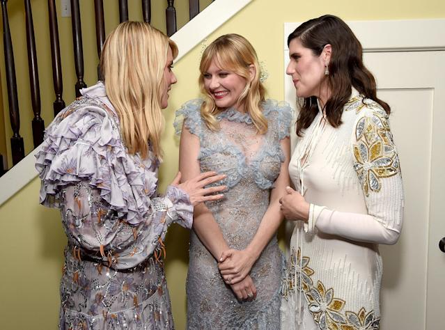 Kirsten Dunst with Kate and Laura Mulleavy — BFFs — at the premiere of <em> Woodshock</em> in Hollywood. (Photo: Getty Images)