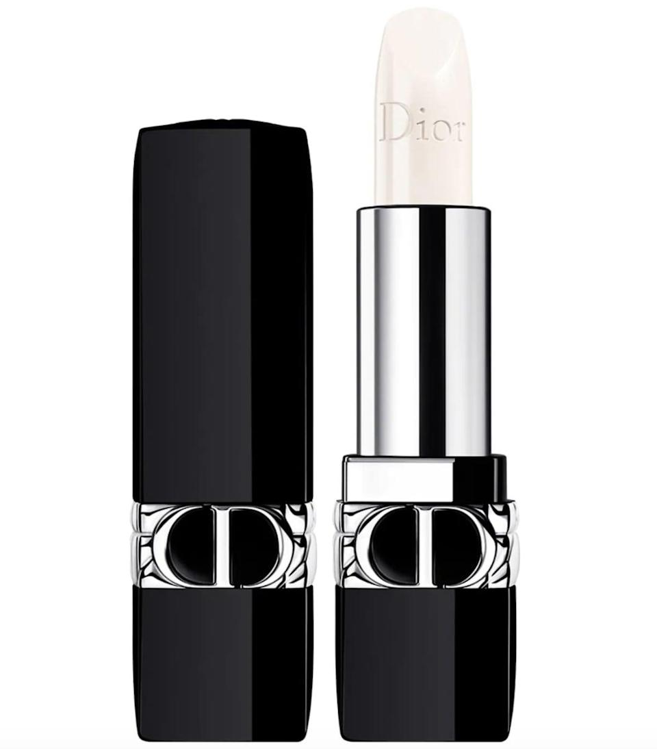 """<p>""""It was the packaging of <span>this Dior lip balm</span> ($38) that sucked me in, but the creamy formula got me hooked. In addition to shea butter (which guarantee a smooth and perky pucker), pomegranate flower and red peony to hydrate the lips. Bonus: it's refillable!"""" - Emily Orofino, beauty editor</p>"""