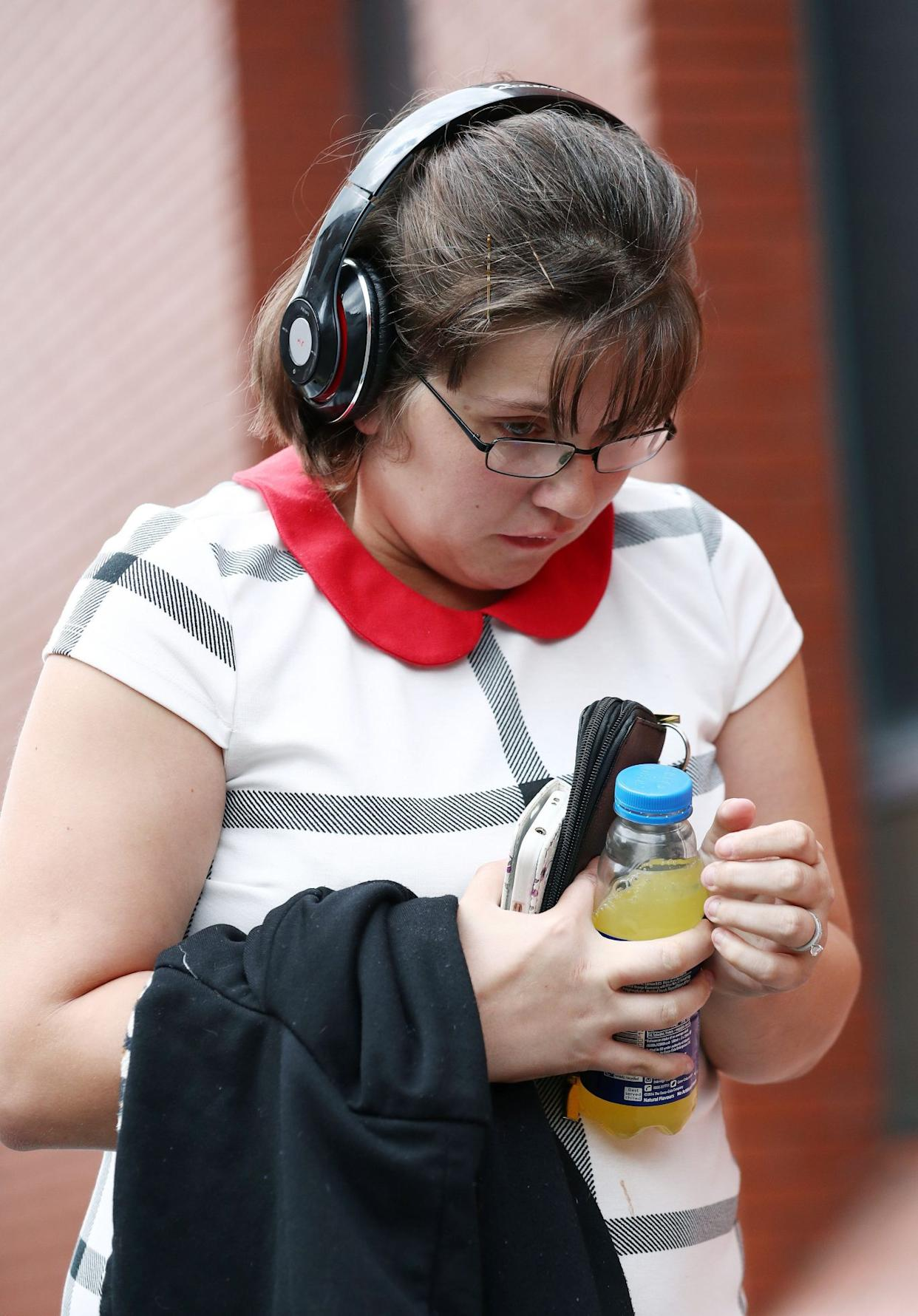 Lynsey Dunn outside Leicester Crown Court (Aaron Chown/PA)