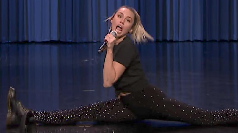 Miley Cyrus' Lip Sync Battle With Jimmy Fallon Is Exhausting Just To Watch