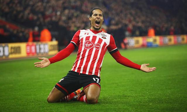 """<span class=""""element-image__caption"""">Virgil van Dijk, who Chelsea could sign ahead of Manchester City. </span> <span class=""""element-image__credit"""">Photograph: Julian Finney/Getty Images</span>"""