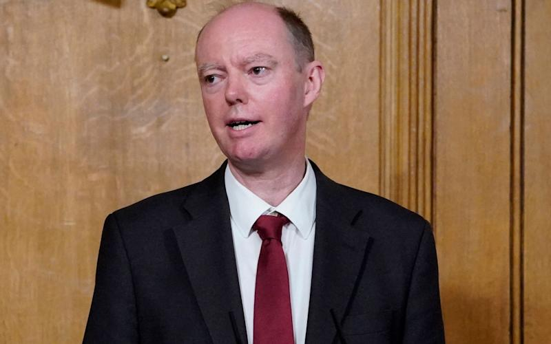 Professor Chris Whitty speaks at Friday's Downing Street news conference - Andrew Parsons/Shutterstock