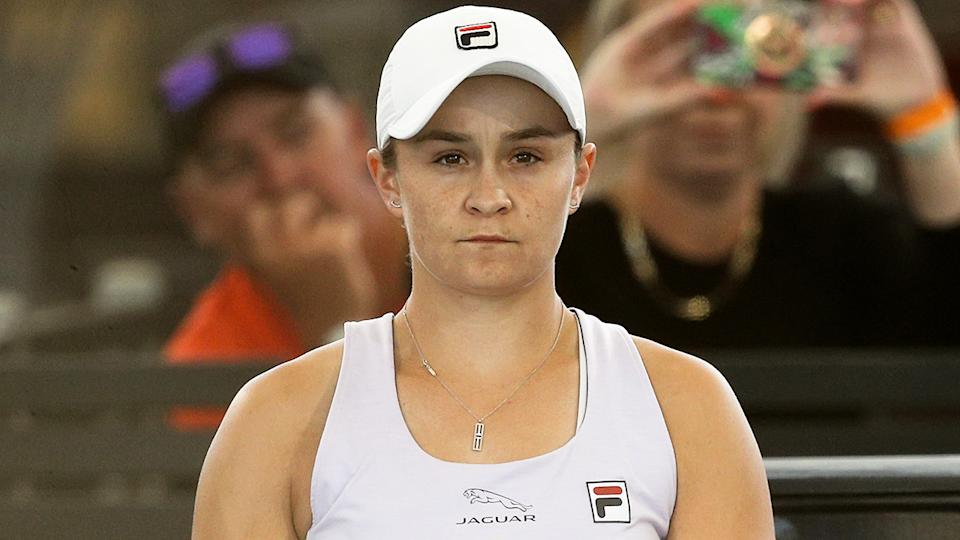 Ash Barty has announced she is pulling out of the Qatar Open to recover from a nagging thigh injury in the wake of her shock Adelaide International loss. (Photo by Peter Mundy/Speed Media/Icon Sportswire via Getty Images)