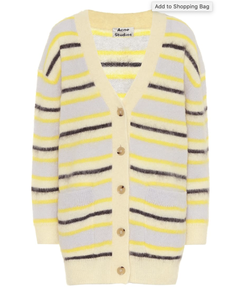 Acne Studios cardigan. (PHOTO: MyTheresa)