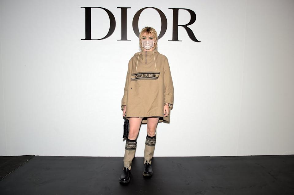 PARIS, FRANCE – SEPTEMBER 29: Maisie Williams attends the Dior Womenswear Spring/Summer 2021 show as part of Paris Fashion Week on September 29, 2020 in Paris, France. (Photo by Anthony Ghnassia/Getty Images for Dior)