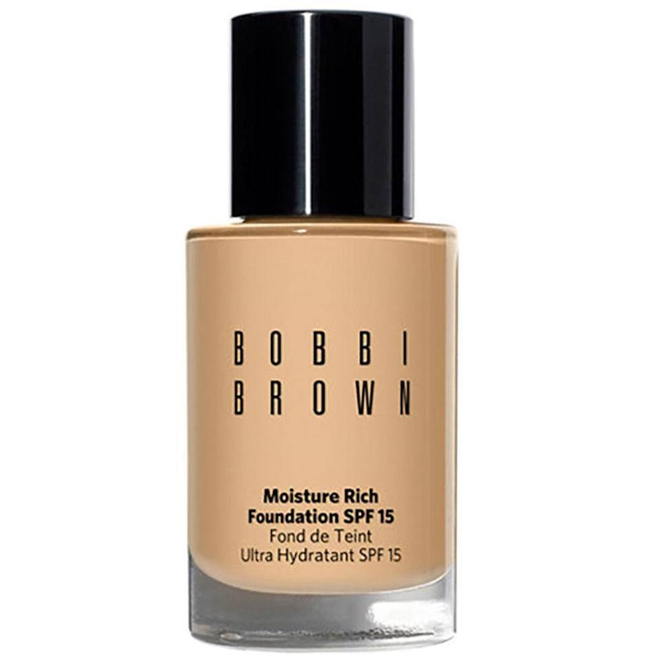 """<p>With moisture-binding ingredients jojoba oil and plant oils, this medium-coverage base is almost as nourishing as face cream. ($50; <a rel=""""nofollow noopener"""" href=""""http://www.sephora.com/skin-foundation-spf-15-P270551"""" target=""""_blank"""" data-ylk=""""slk:sephora.com"""" class=""""link rapid-noclick-resp"""">sephora.com</a>)</p>"""