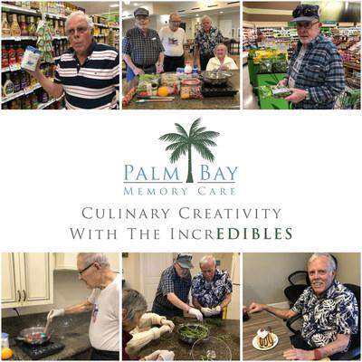 'The IncrEDIBLES' are a group of residents at Palm Bay Memory Care who enthusiastically participate in a culinary club, sparking creativity, precious memories, and social engagement, all centered around cuisine.