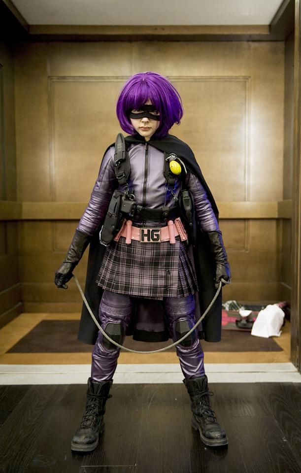 "HIT-GIRL<br><a href=""http://movies.yahoo.com/movie/1810063108/info"">""Kick-Ass</a>""<br>Grade: A<br>This pubescent pugilist perfectly pairs her Catholic school girl pleats with a Barney-colored bodysuit and a whole lotta Hot Topic."