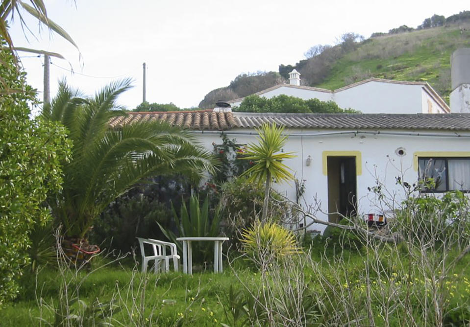 A Portuguese property connected to the suspect. (PA Images)