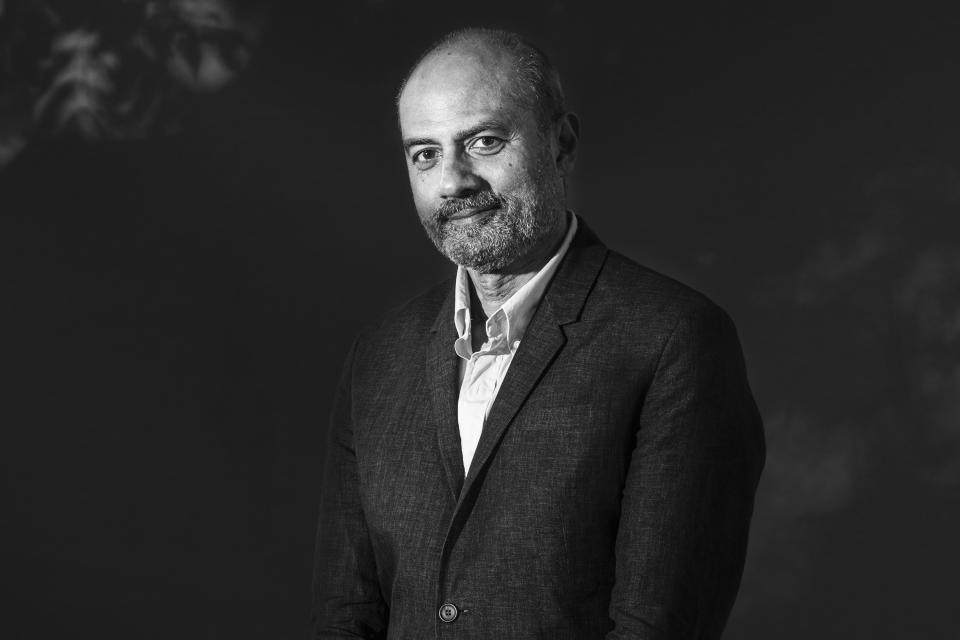 EDINBURGH, SCOTLAND - AUGUST 25: [EDITORS NOTE: this picture has been converted in black and white] British newsreader, journalist and television news presenter George Alagiah attends a photo call during Edinburgh International Book Festival 2019 on August 25, 2019 in Edinburgh, Scotland. (Photo by Simone Padovani/Awakening/Getty Images)