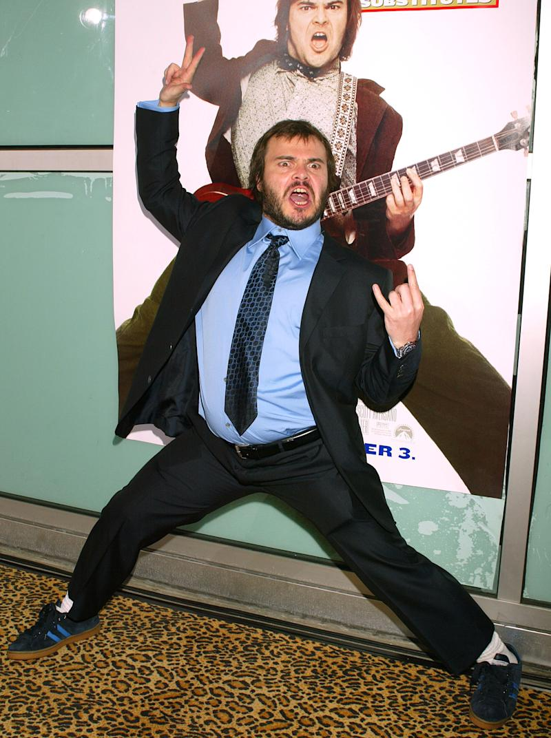 "Jack Black during ""School of Rock"" Premiere - Arrivals at Cinerama Dome in Hollywood, California, United States. (Photo by Jeffrey Mayer/WireImage)"