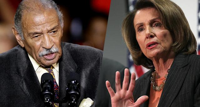 John Conyers, Nancy Pelosi (Photos: Carlos Osorio/AP, Alex Wong/Getty Images)