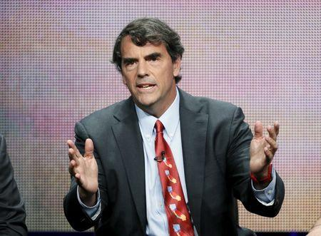 """FILE PHOTO: Tim Draper from """"Startup U"""" speaks at a panel for the ABC Family television series during the Television Critics Association Cable Summer Press Tour in Beverly Hills"""