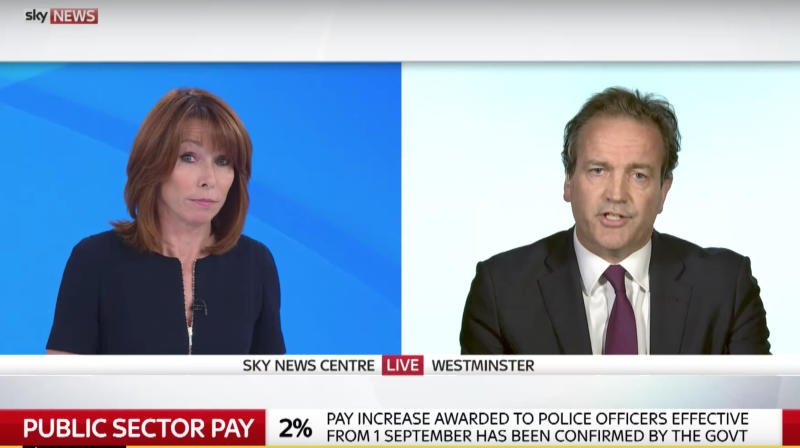 Kay Burley Grills Tory Nick Hurd Over Police Pay Cap