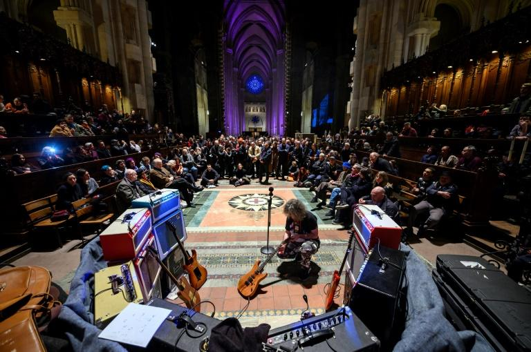Lou Reed's drones rang out in the enormous Cathedral of St. John the Divine -- large enough to lay the entire Statue of Liberty lengthwise within its walls -- for some five hours