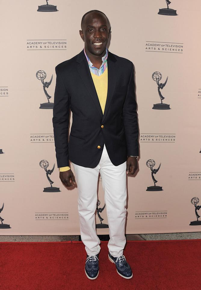 "Michael Kenneth Williams arrives at The Academy of Television Arts & Sciences Presents An Evening With ""<a href=""http://tv.yahoo.com/boardwalk-empire/show/41428"">Boardwalk Empire</a>"" event at Leonard H. Goldenson Theatre on April 26, 2012 in North Hollywood, California."