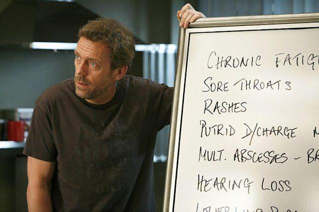 Hugh Laurie as Dr. Gregory House in 'House M.D.' (Photo: Greg Gayne/NBC/NBCU Photo Bank via Getty Images)