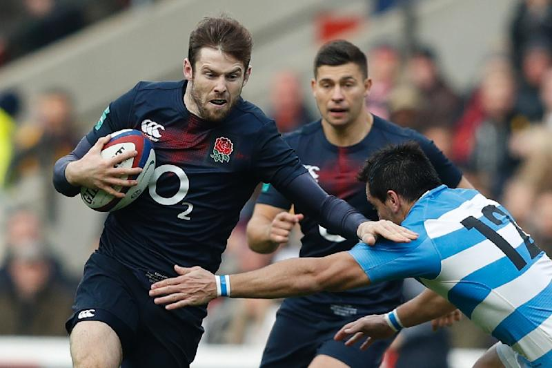 Elliot Daly (left) will start for England against France at Twickenham on Saturday