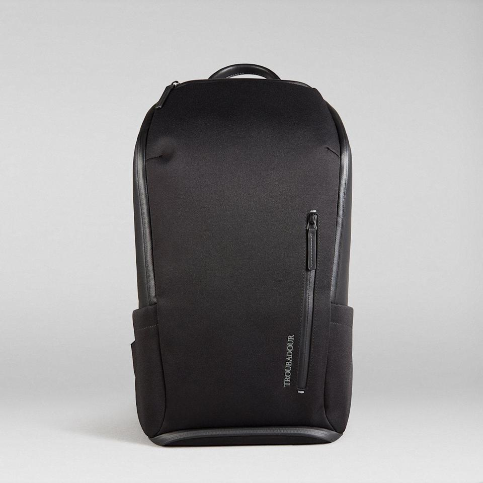 """This sustainable, eco-friendly backpack is made of recycled fabric. The pack is good for the Earth and for your back since it's a lightweight affair with breathable back panels and memory foam shoulder straps. Shop the bag in black or navy. $245, Troubadour. <a href=""""https://www.troubadourgoods.com/products/explorer-pioneer-backpack?variant=39806997954728"""" rel=""""nofollow noopener"""" target=""""_blank"""" data-ylk=""""slk:Get it now!"""" class=""""link rapid-noclick-resp"""">Get it now!</a>"""