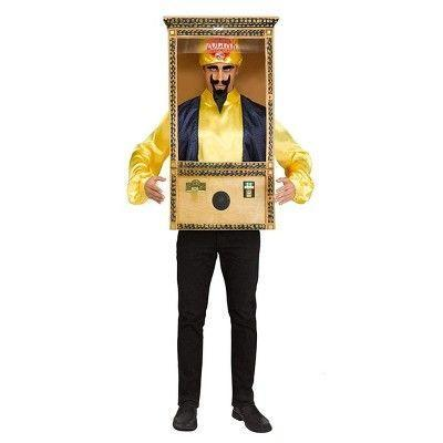 """<p><strong>Fun World</strong></p><p>target.com</p><p><strong>$87.99</strong></p><p><a href=""""https://www.target.com/p/fun-world-zoltar-speaks-booth-adult-costume-standard/-/A-78637136"""" rel=""""nofollow noopener"""" target=""""_blank"""" data-ylk=""""slk:Shop Now"""" class=""""link rapid-noclick-resp"""">Shop Now</a></p><p>How <em>fortunate</em> that you can be robot fortune teller Zoltar from the movie <em>Big</em>.</p>"""