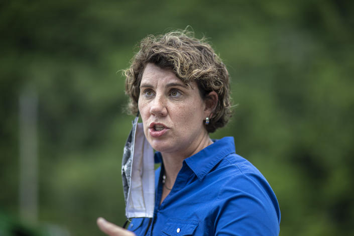 U.S. Senate candidate Amy McGrath. (Ryan C. Hermens/Lexington Herald-Leader via AP)