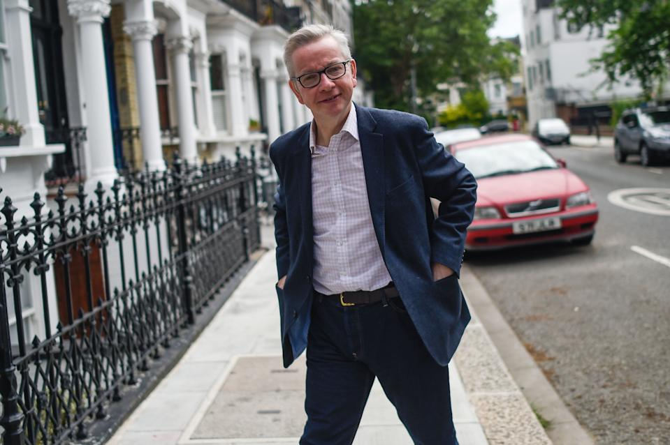 Making his move: Gove leaving his London home last month. (Photo by Peter Summers/Getty Images)