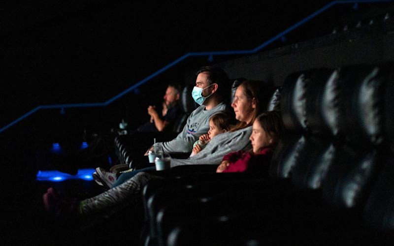Cinema-goers at Showcase Cinema in Bluewater Shopping Centre, Dartford, Britain - Will Oliver/EPA-EFE/Shutterstock