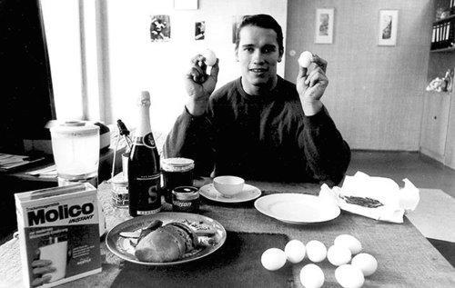 Image result for eggs arnold schwarzenegger
