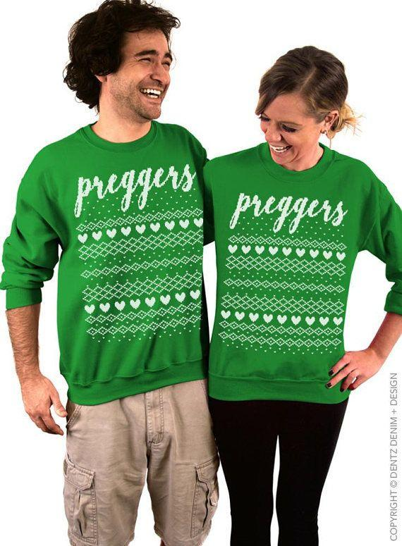 "Get the set <a href=""https://www.etsy.com/listing/475751170/preggers-christmas-baby-announcement?ga_order=most_relevant&ga_search_type=all&ga_view_type=gallery&ga_search_query=ugly%20christmas%20sweater%20couple&ref=sc_gallery_11&plkey=d2e3c5a340aceb28facc9c641b760c86f0fb0488:475751170"" target=""_blank"">here</a>."