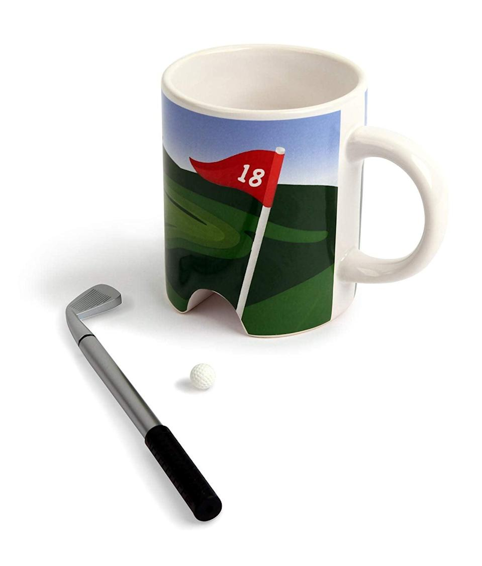 <p>Make coffee time more entertaining with this <span>Kikkerland Putter Cup Golf Mug</span> ($13).</p>