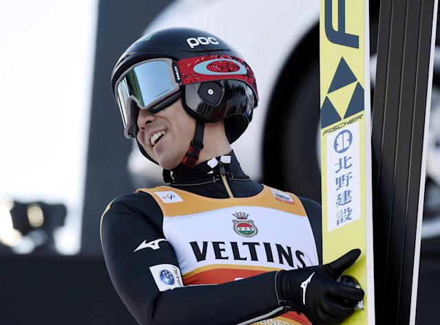 Lahti Ski Games - FIS Nordic World Cup - Akito Watabe of Japan competes during the qualification and provisional competition round PCR of FIS Nordic Combined World Cup in Lahti, Finland March 2, 2018. Lehtikuva/Markku Ulander via REUTERS ATTENTION EDITORS - THIS IMAGE WAS PROVIDED BY A THIRD PARTY. NO THIRD PARTY SALES. NOT FOR USE BY REUTERS THIRD PARTY DISTRIBUTORS. FINLAND OUT. NO COMMERCIAL OR EDITORIAL SALES IN FINLAND.