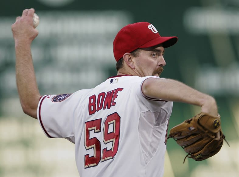 Former MLB pitcher Micah Bowie is seeking financial help from the MLBPA as he battles life-threatening complications from back surgery. (AP)