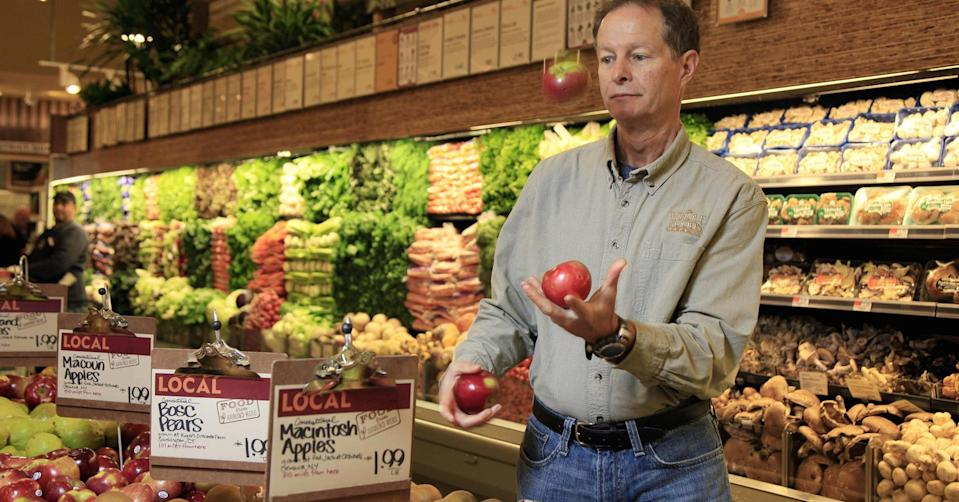 Whole Foods co-founder and CEO John Mackey started a natural foods market in an old house in Austin using $45,000 raised from friends and family. (AP/Richard Drew)