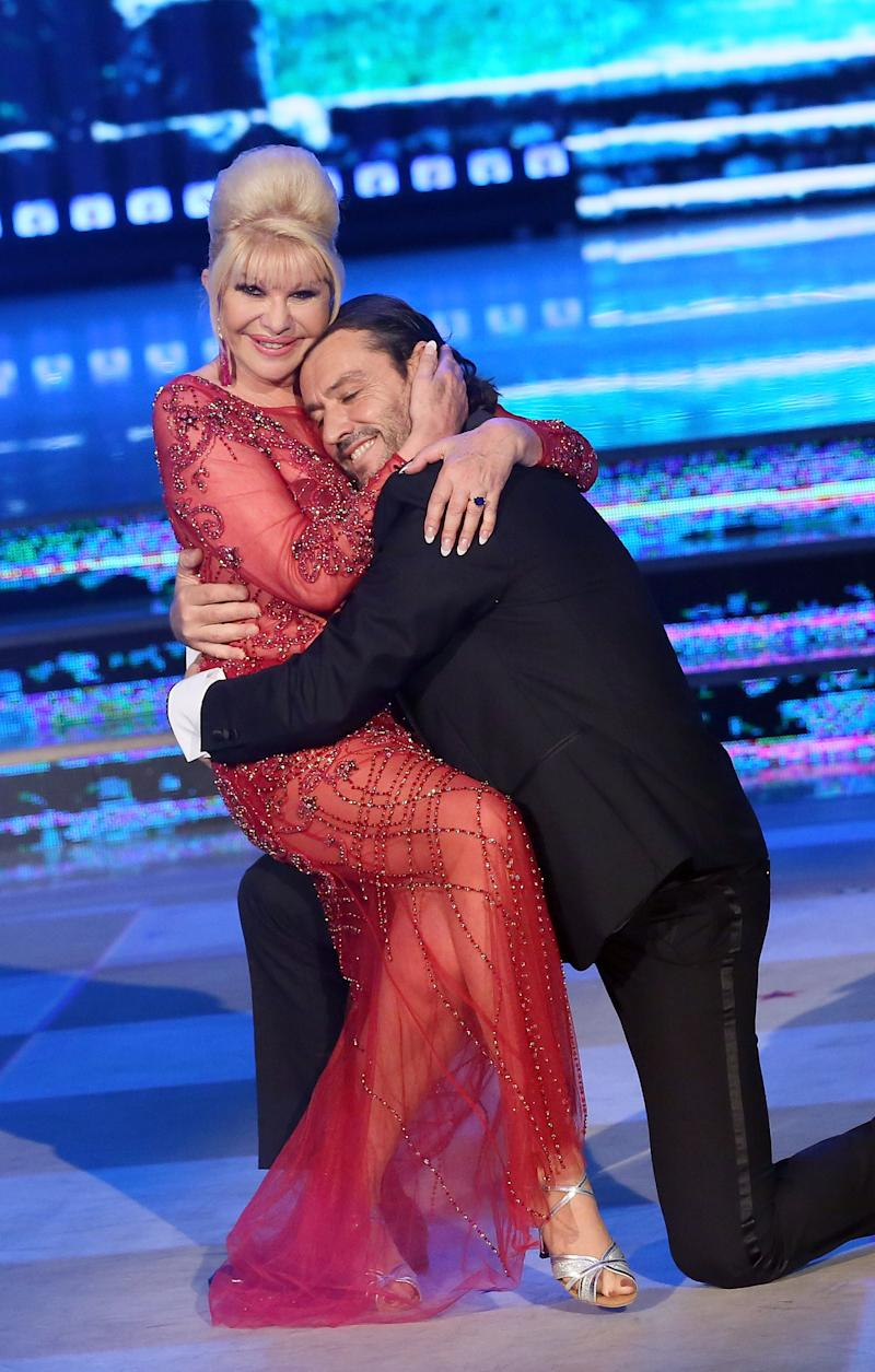 """Ivana Trump and Rossano Rubicondi were guest competitors on the Italian version of """"Dancing With the Stars"""" (""""Ballando Con Le Stelle"""") in Rome in 2018. (Photo: Getty Images)"""
