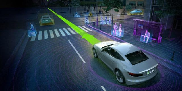 AI in cars navigating streets