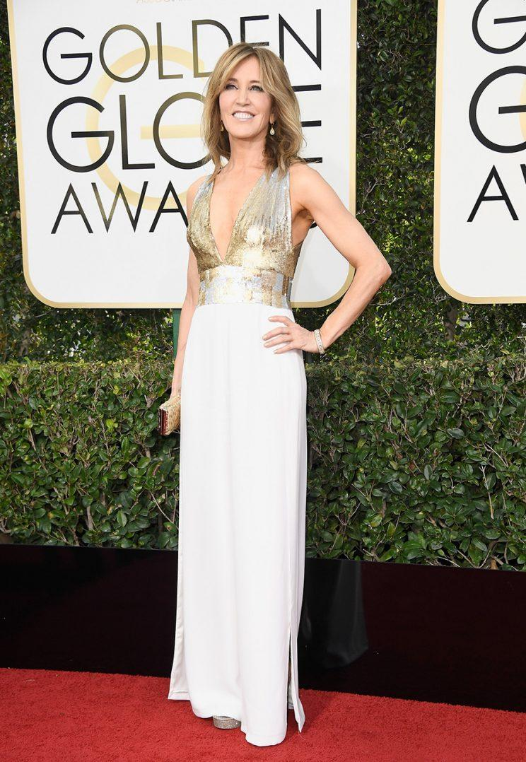 Image result for felicity huffman golden globes 2017 pants