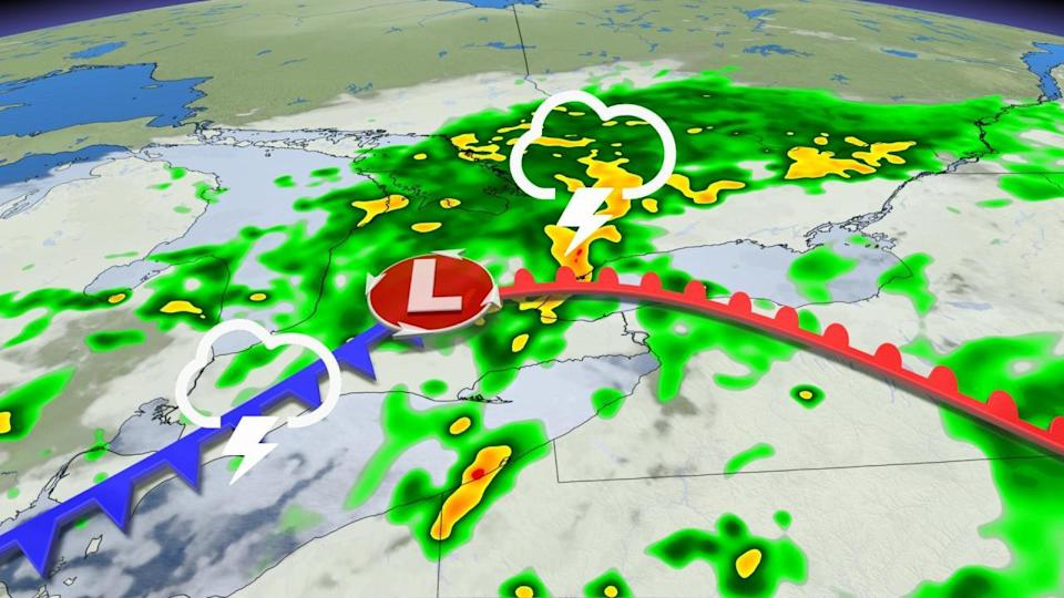 Tornado warning dropped in southern Ontario, but stormy weather continues